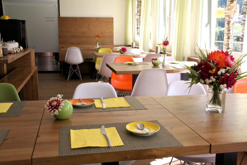 Frühstücksraum Hotel Lauberhorn Grindelwald