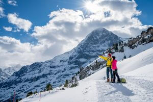 Winter hiking Grindelwald