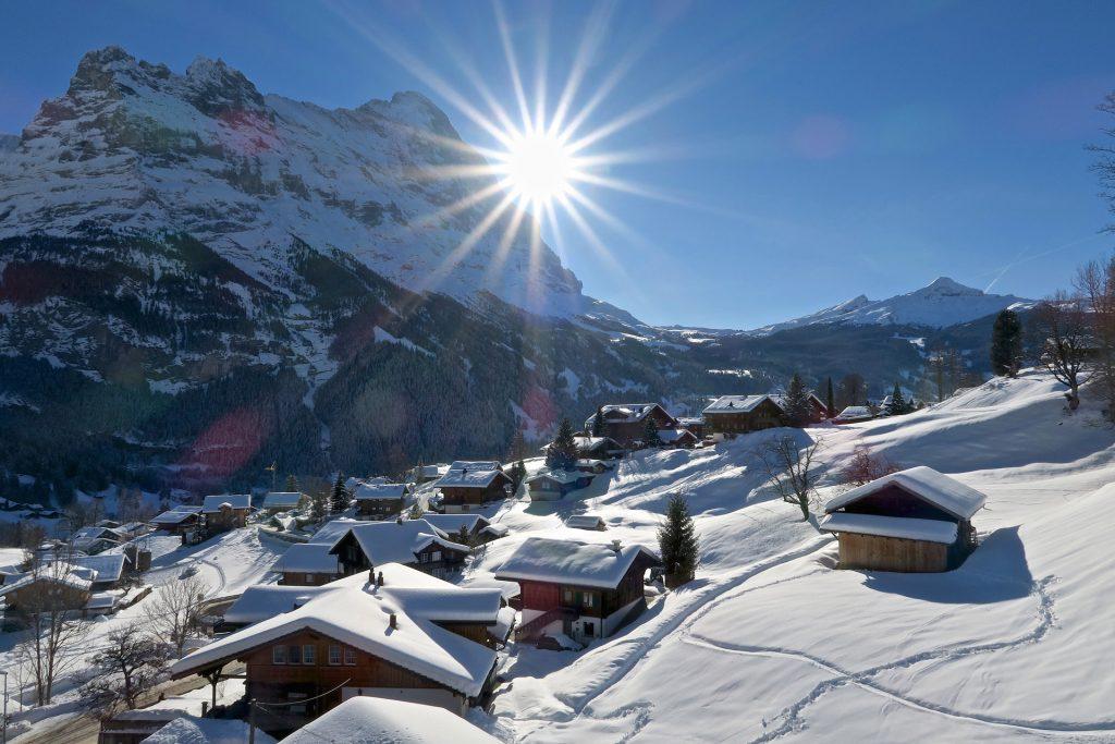 Aussicht Winter Hotel Lauberhorn